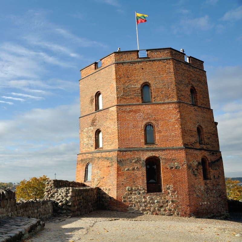 Gediminas城堡在维尔纽斯 图库摄影