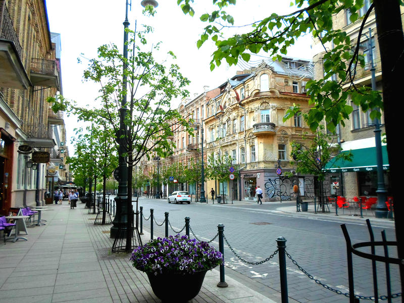 Gediminas Avenue in springtime royalty free stock photo