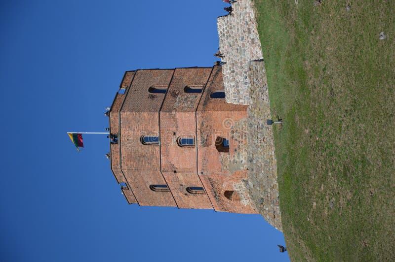 Gediminas-Schloss, Vilnius, Litauen stockfotos