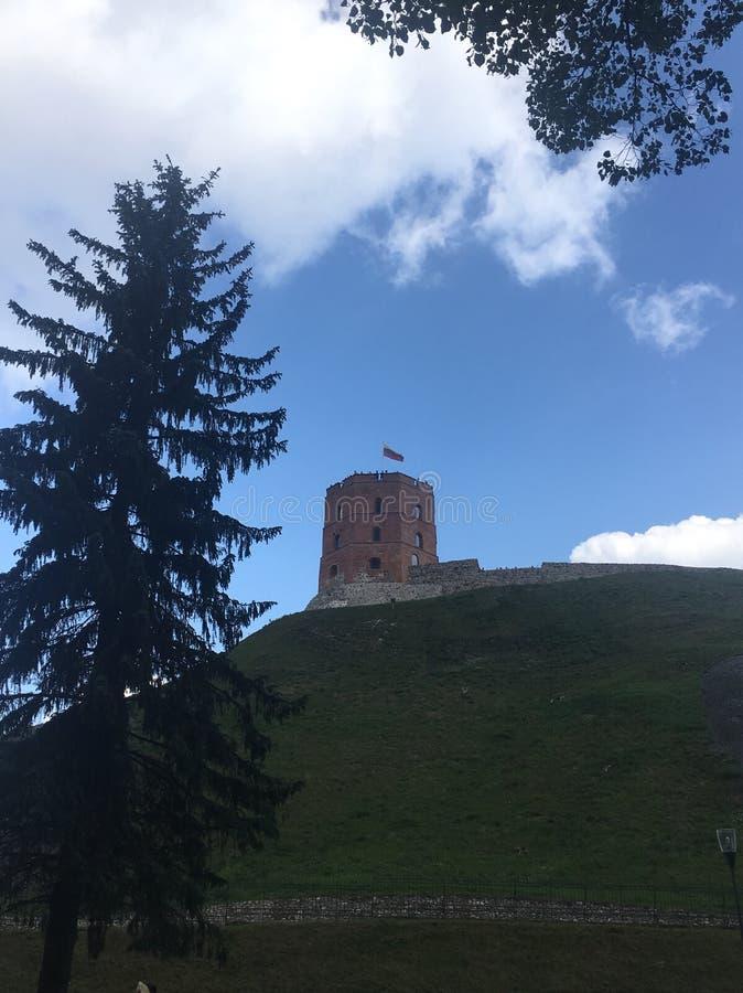 Gediminas torn i Vilnius, Litauen arkivbild
