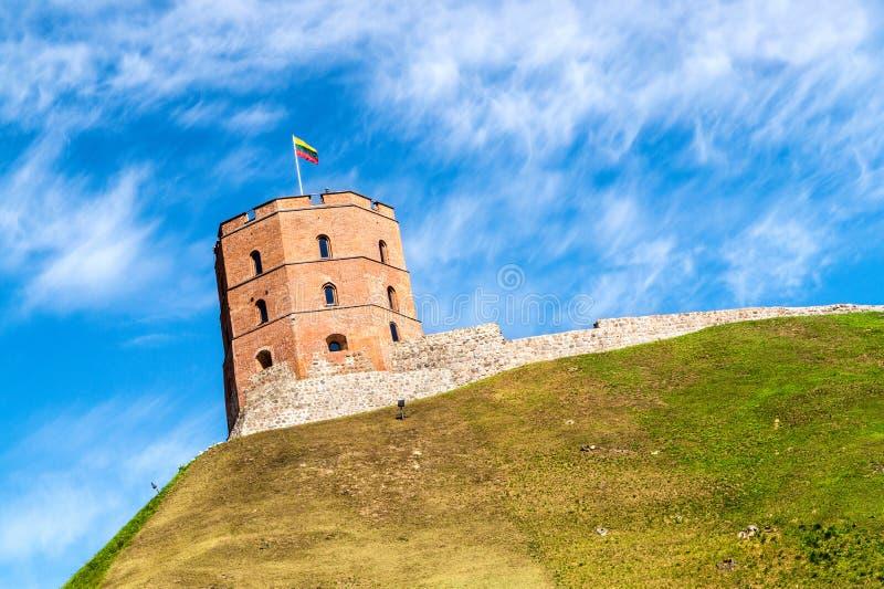 Gediminas tower Gedimino in Vilnius, Lithuania royalty free stock images