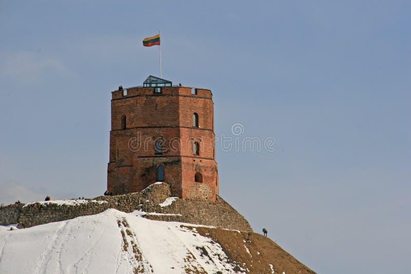 Gediminaskasteel in Vilnius royalty-vrije stock fotografie
