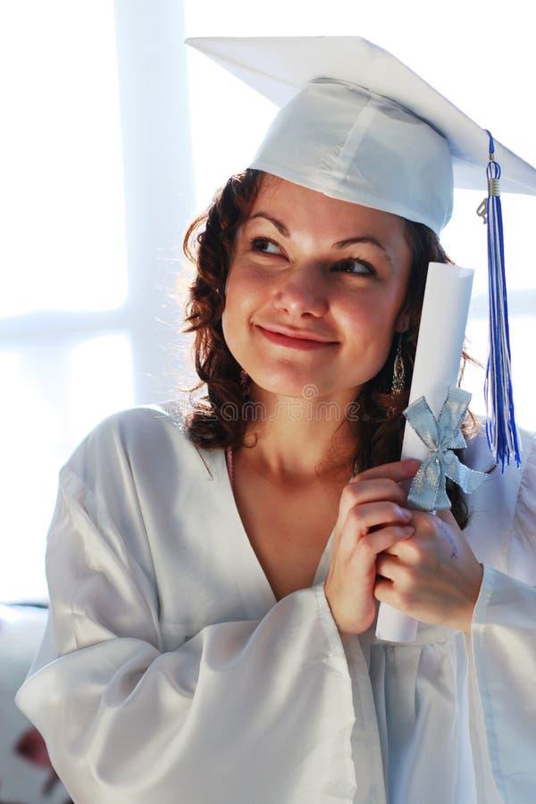 Gediplomeerd diploma royalty-vrije stock fotografie