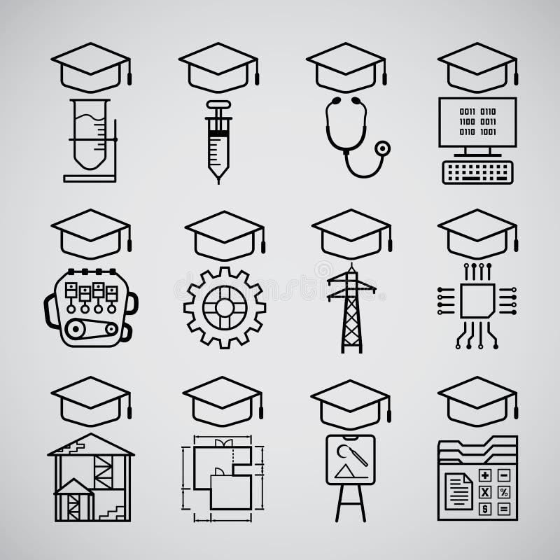Gediplomeerd pictogram royalty-vrije illustratie