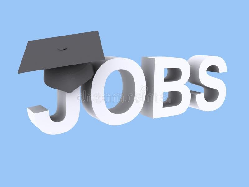 Gediplomeerde banen royalty-vrije illustratie