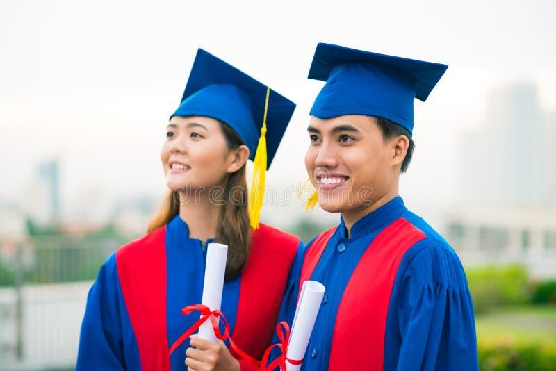Gediplomeerden stock foto