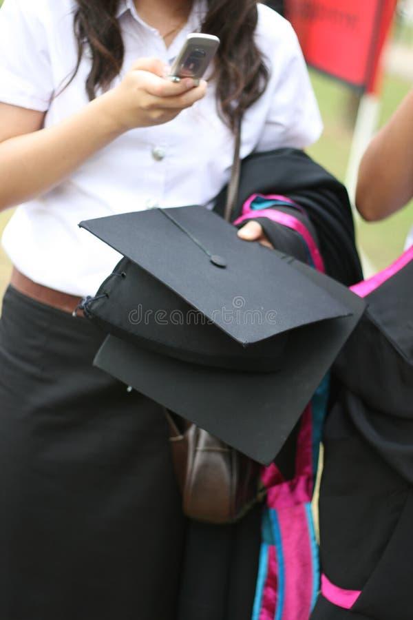 Gediplomeerden stock fotografie