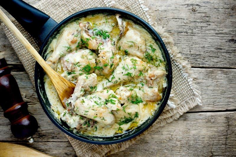 Gedlibzhe — kabardian chicken in sour cream sauce stock photography