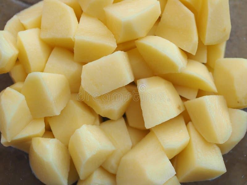 Gedobbelde aardappelgroenten royalty-vrije stock afbeeldingen