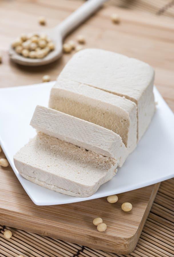 Gedobbelde Tofu royalty-vrije stock afbeeldingen