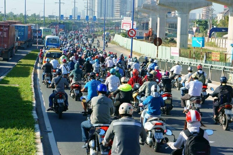 Gedrängt, Vietnam, Asien ctiy, Fahrzeug, Abgase, stockfotografie
