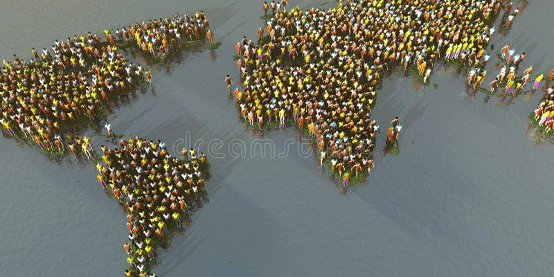 Gedrängter Planet lizenzfreies stockbild