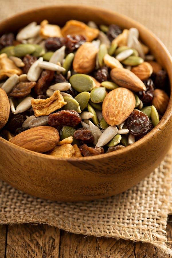 Gedroogd fruit en van de notensleep mengeling royalty-vrije stock foto's
