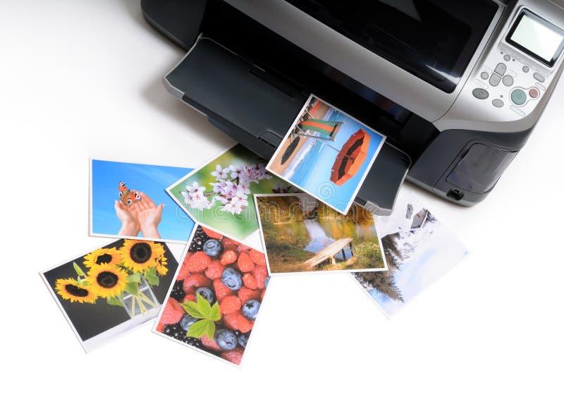 Gedruckte Fotos stockbilder