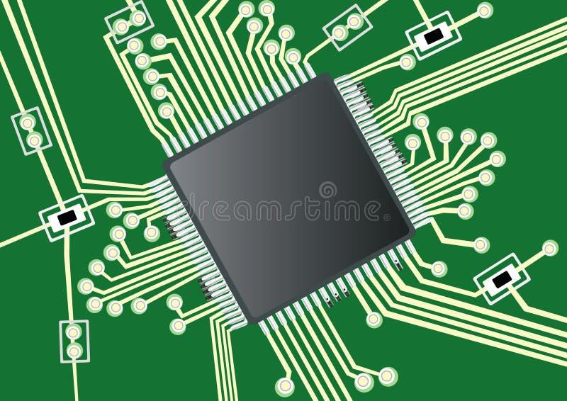 Gedrucktes Leiterplatte vektor abbildung
