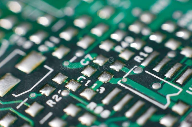 Gedrucktes Leiterplatte, Makro lizenzfreie stockbilder