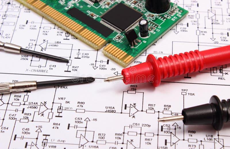 Gedrucktes Leiterplatte Präzisionswerkzeuge Und Kabel Des ...
