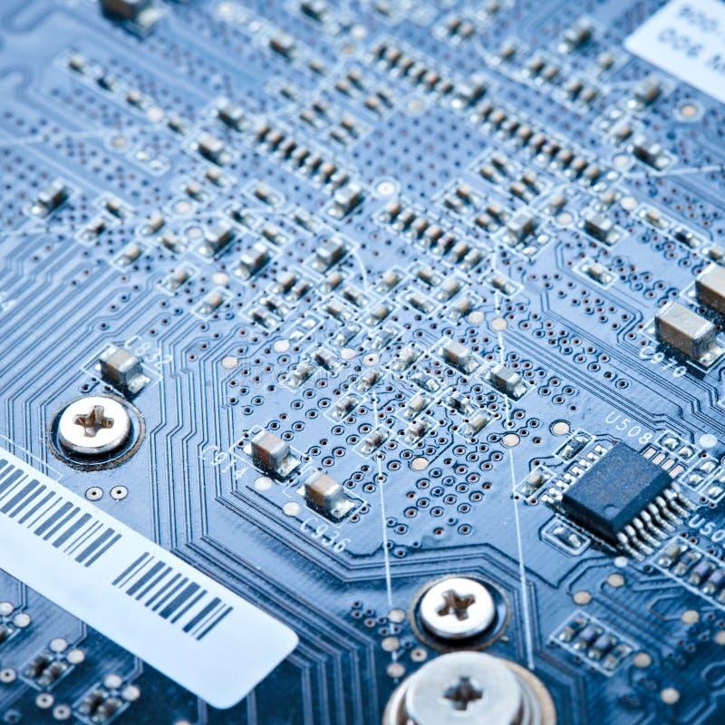 Gedrucktes Makroleiterplatte lizenzfreies stockfoto