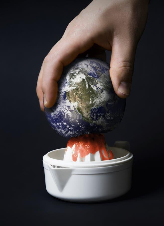 Gedrukt en geplette aarde royalty-vrije stock foto