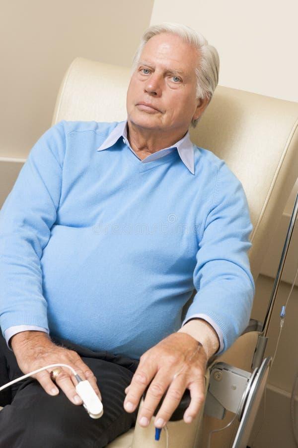 Geduldige durchmachende Chemotherapie Traetment stockbild