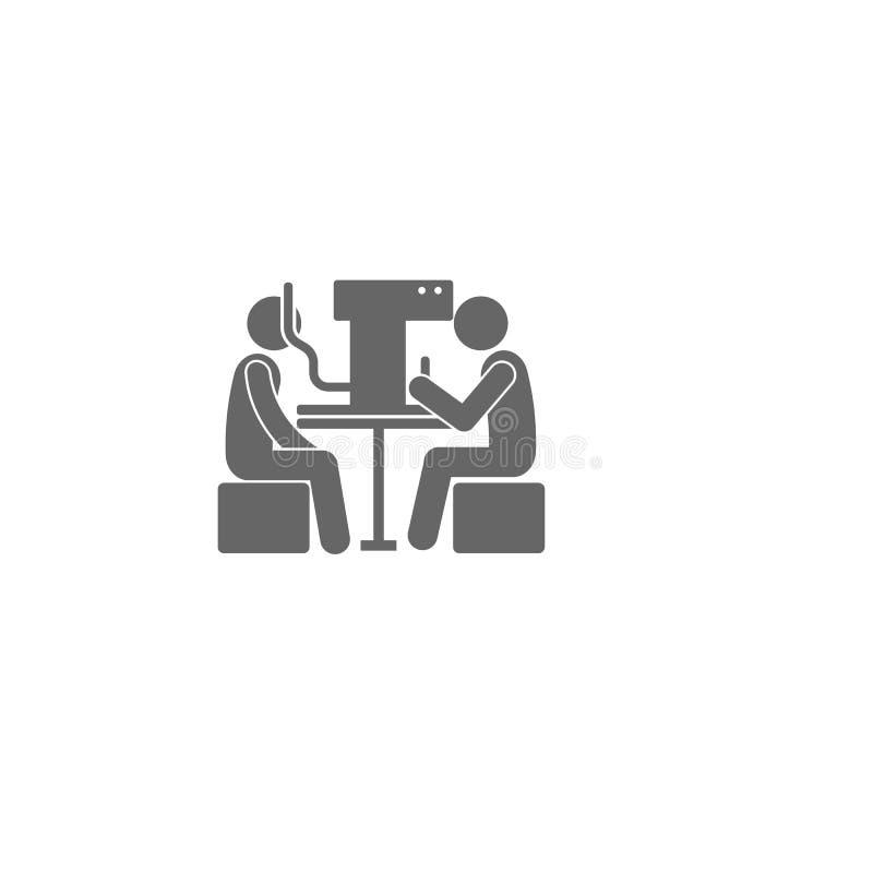 Geduldige van het de behandelingspictogram van het artsenoog Eenvoudige het elementenillustratie Symboolontwerp van Medische inza stock illustratie