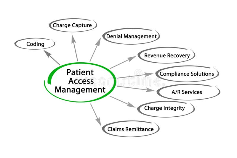 Geduldiges Zugangs-Management stock abbildung