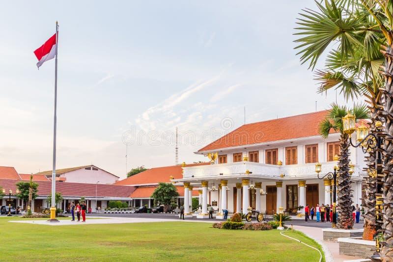 Colonial state building In Surabya, Inodnesia. Gedung Negara Grahadi building in Surabaya, East Java , Indonesia royalty free stock images