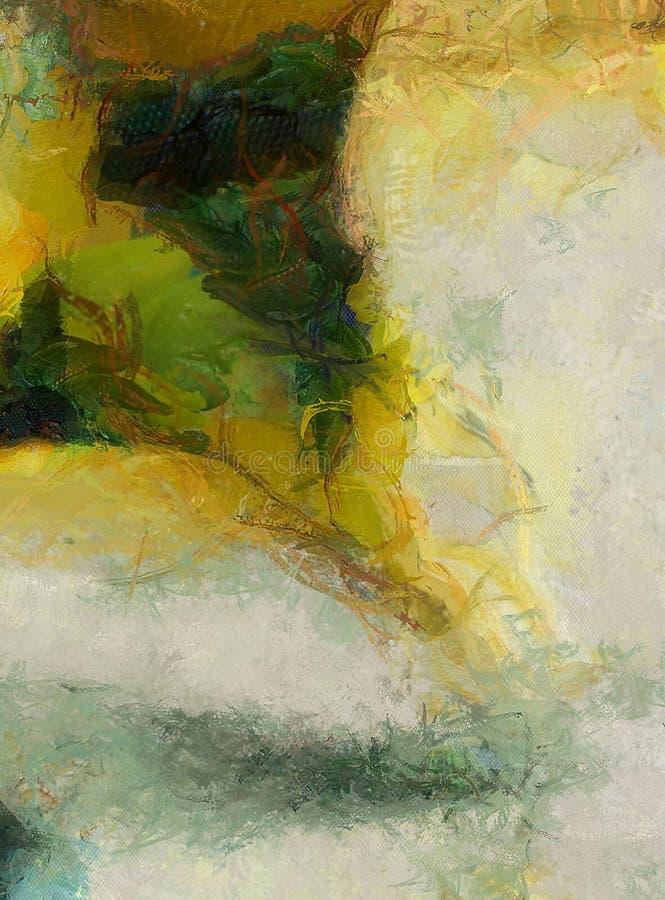 Gedwongen Abstract schilderen royalty-vrije stock afbeelding