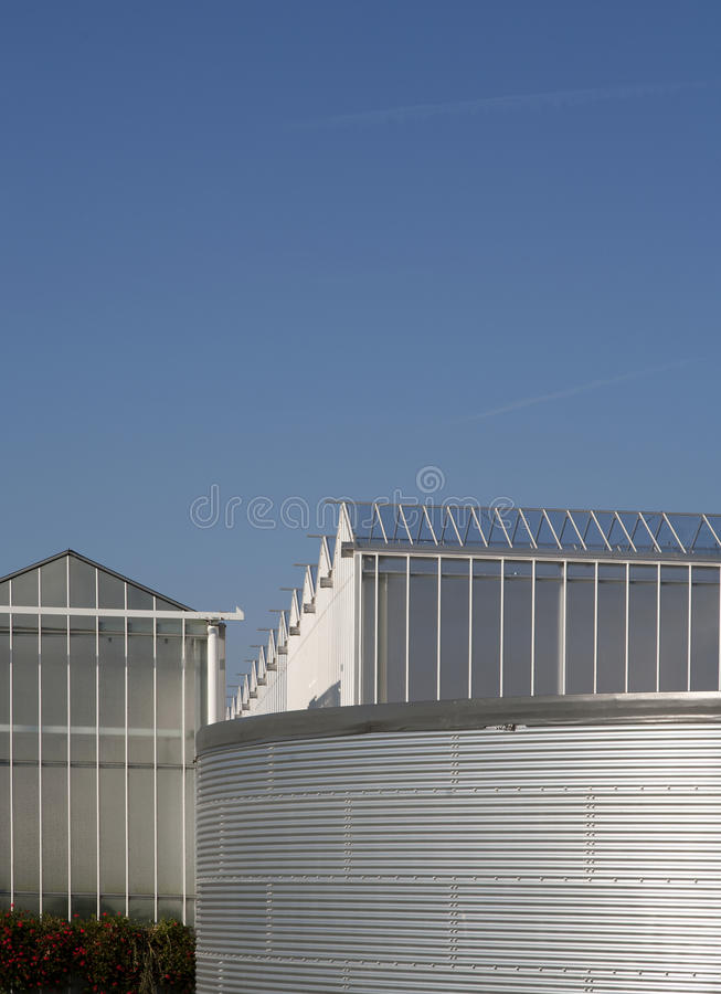 Download Geeenhouse water tank stock photo. Image of westland - 21801092