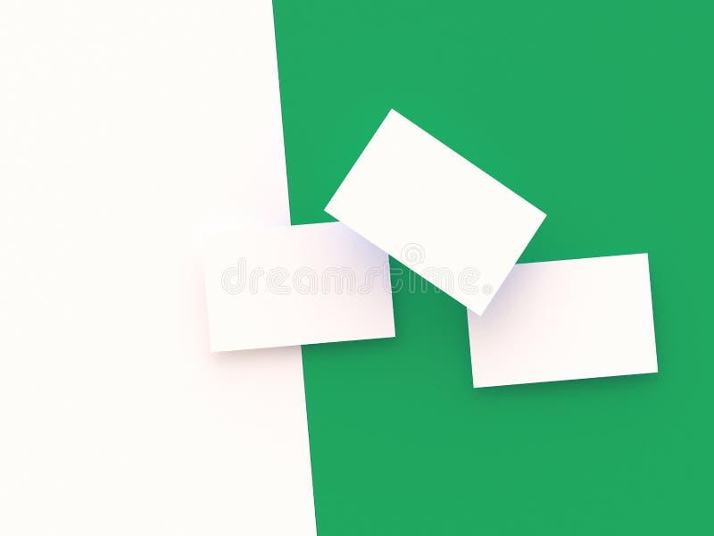 Geef 3d beelden van adreskaartjes terug op een gr. dynamisch worden verspreid die stock illustratie