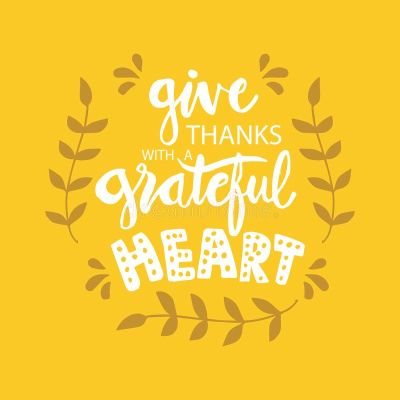 Geef dank met een dankbaar hart vector illustratie