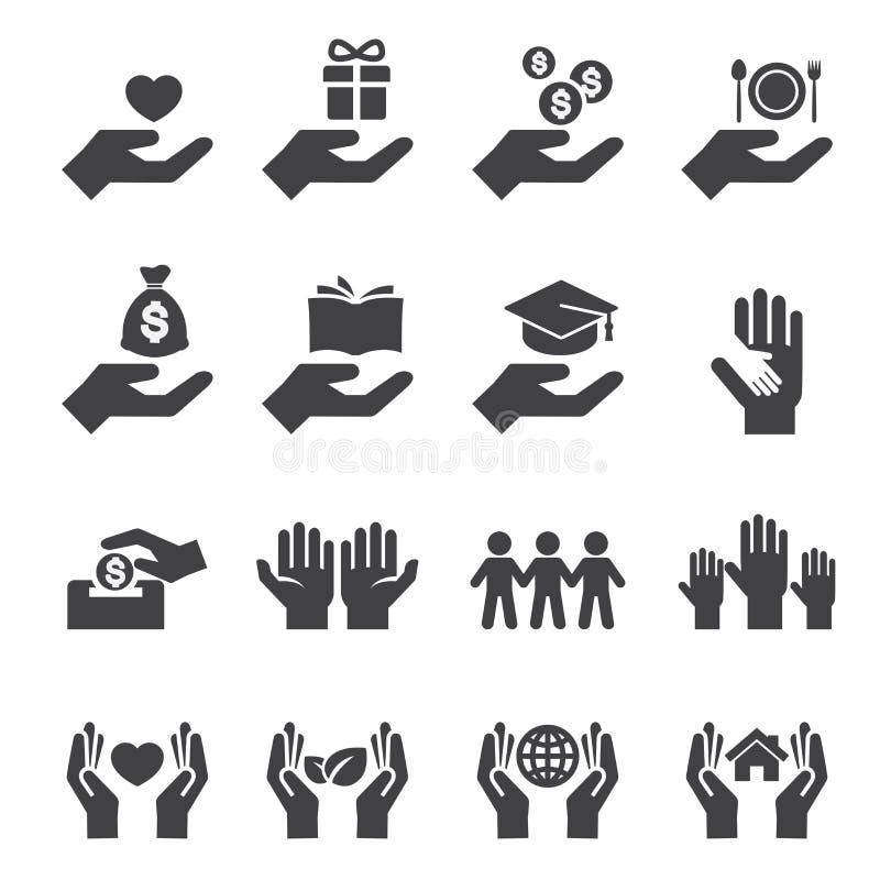 Geef en bescherm pictogram vector illustratie