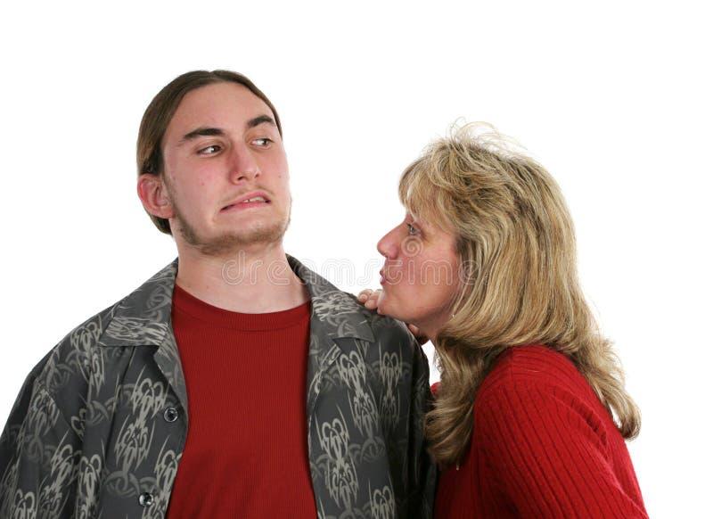 Geef Mamma een Kus stock afbeeldingen