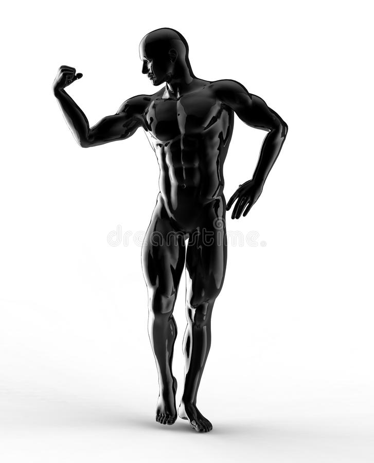 Geef van bodybuilder terug vector illustratie