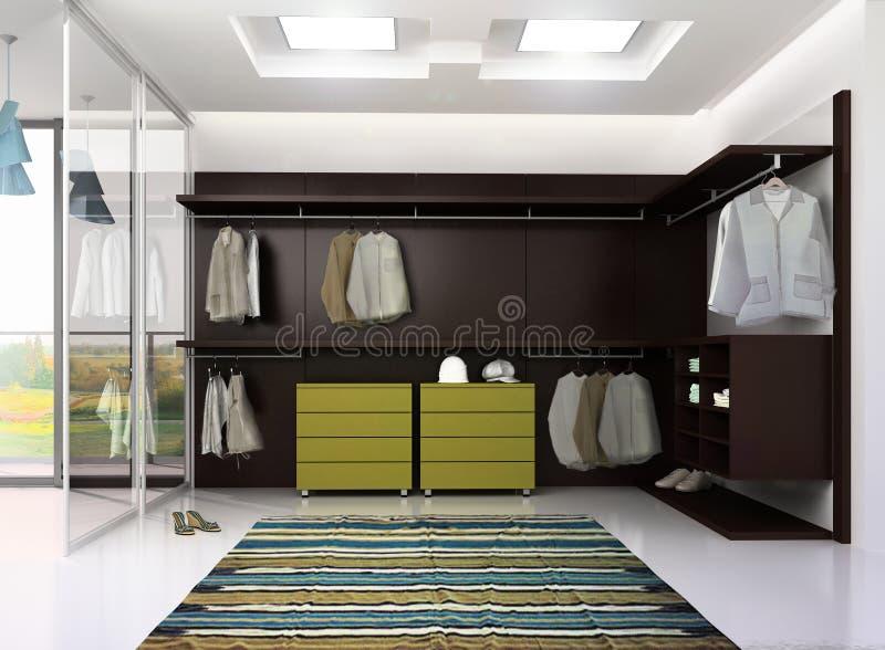 Geef van de kleedkamer van de luxeflat terug vector illustratie