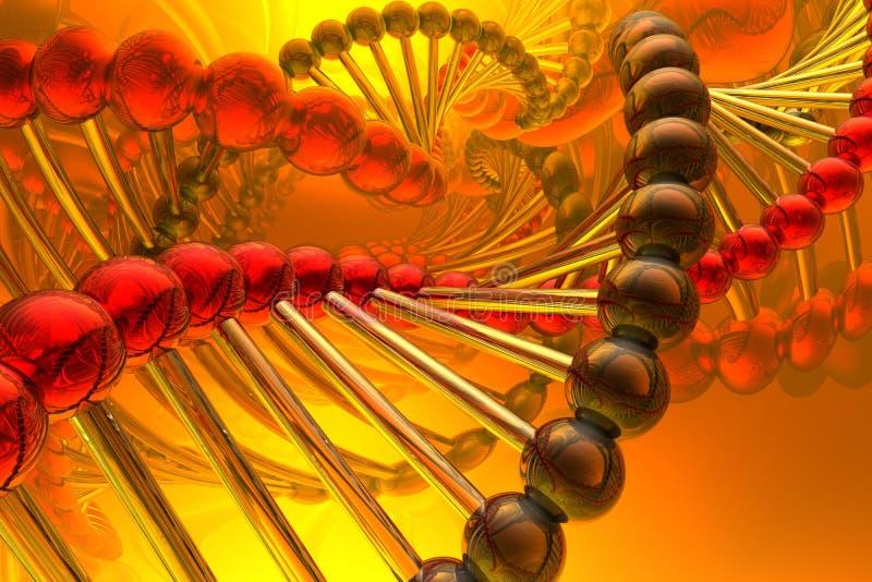 Geef van DNA terug royalty-vrije illustratie