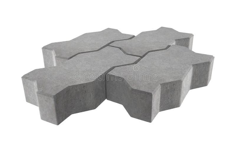 Geef van grijs slot drie het bedekken bakstenen terug Geïsoleerdj op witte achtergrond royalty-vrije illustratie