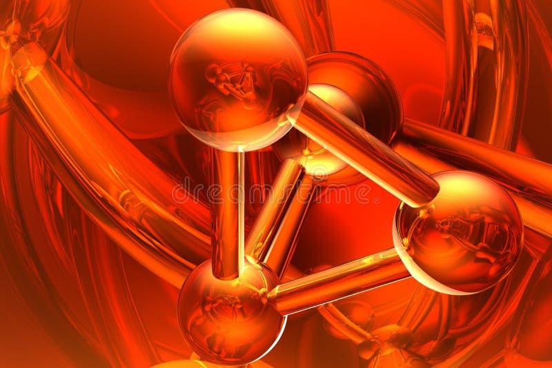 Geef van molecule terug vector illustratie