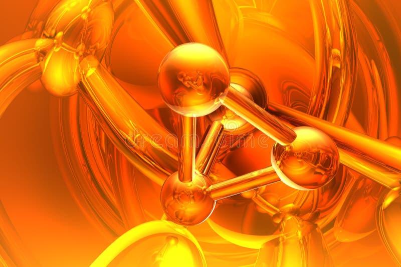 Geef van molecule terug royalty-vrije illustratie
