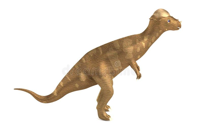 geef van pachycephalosaurus terug vector illustratie