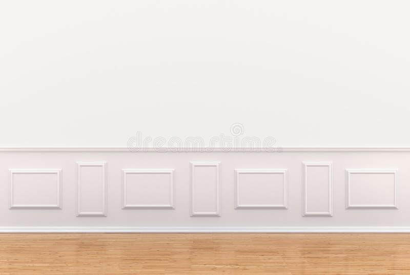 Geef van wit binnenland met panelen op muur terug royalty-vrije illustratie