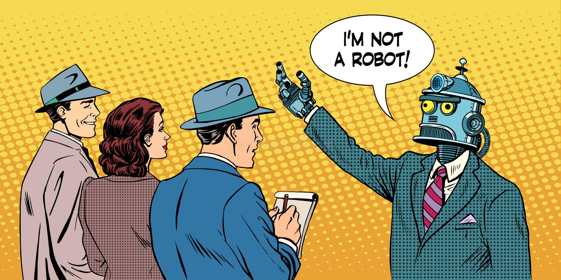 Geeft de robot presidentiële kandidaat gesprek stock illustratie