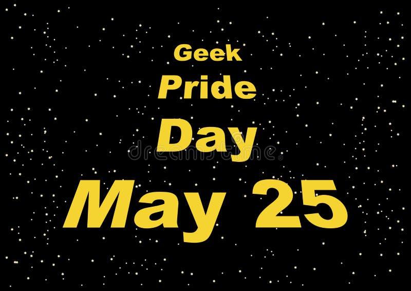 Διάνυσμα ημέρας υπερηφάνειας Geek απεικόνιση αποθεμάτων