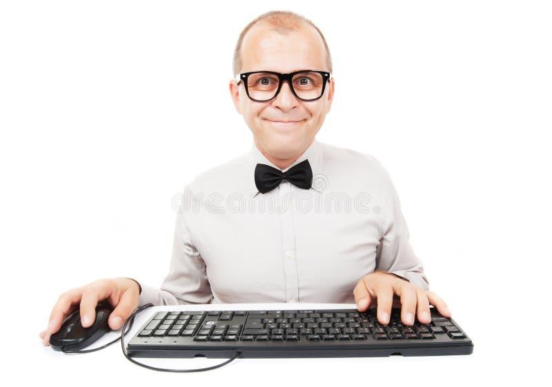 Geek del computer fotografia stock libera da diritti