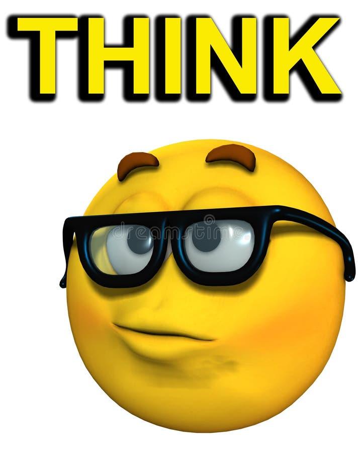Geek denkt   stock illustratie