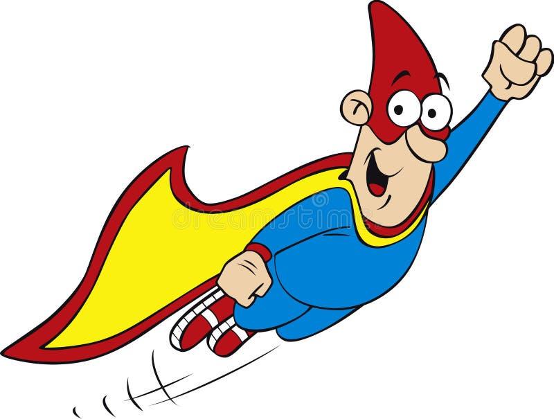 Geek hero. Vector illustration of cartoon geek hero character royalty free illustration