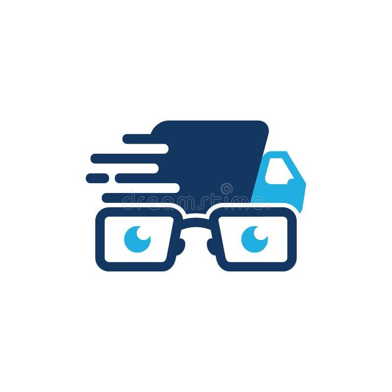 Geek Logo Icon Design di consegna illustrazione di stock