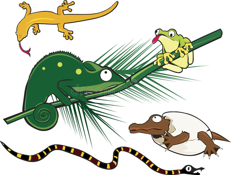 Geek Reptiles stock illustration