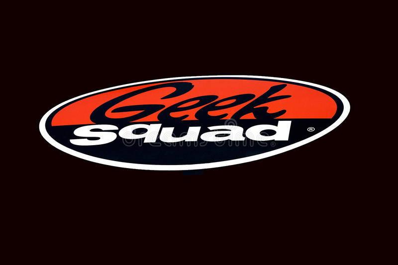 Download Geek Squad Logo editorial stock image. Image of electronic - 19859969