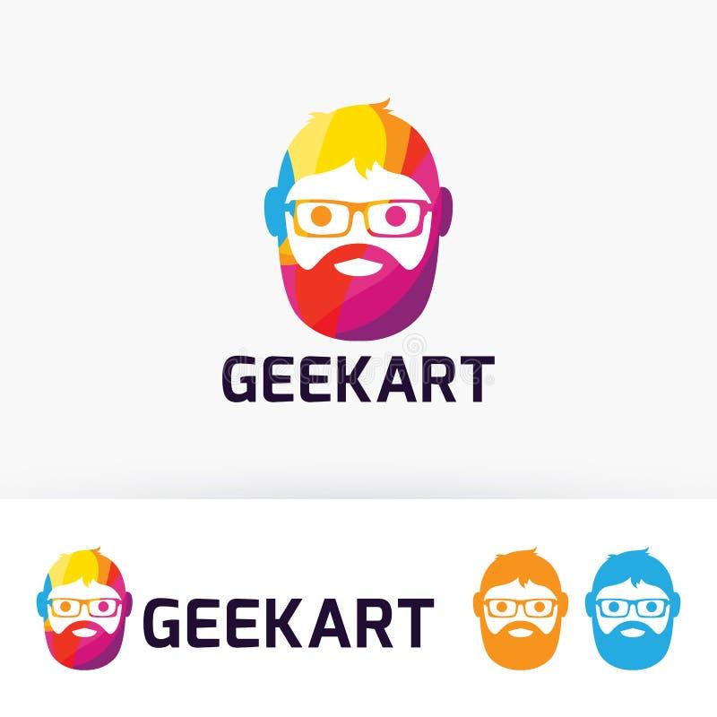 Geekkonstlogo royaltyfri illustrationer